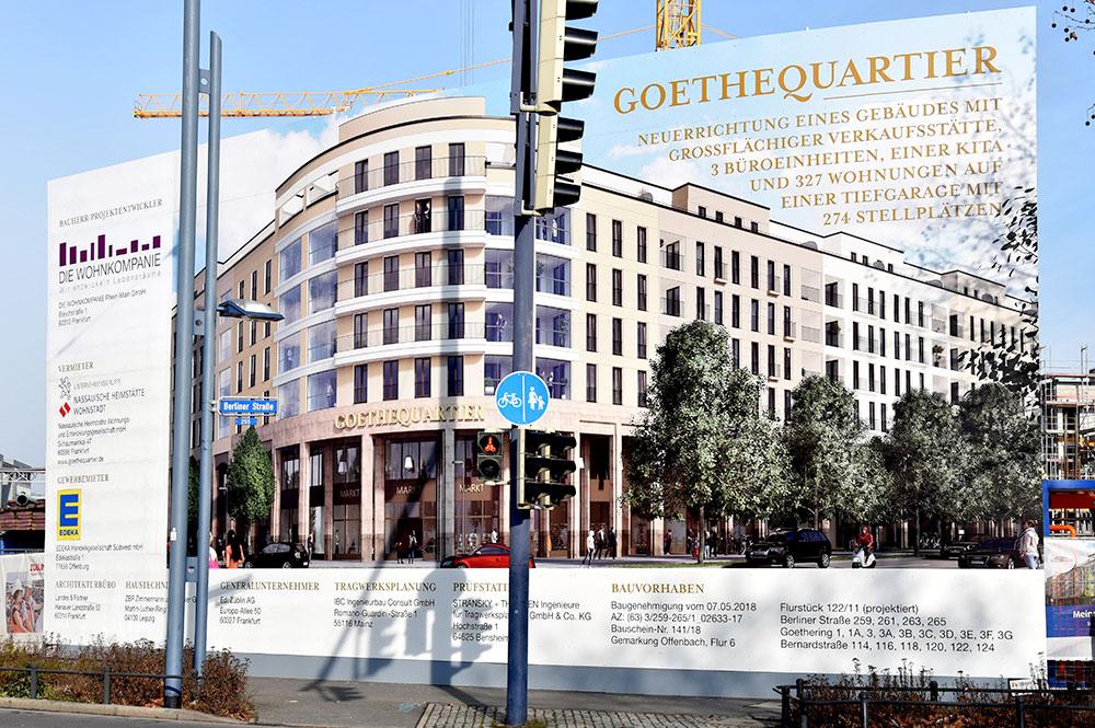 Bauschild der GoetheQuartiers